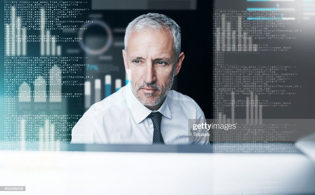 Committed to a paperless office : Stock Photo