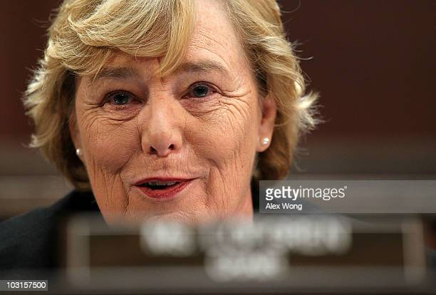 Committee chair Rep Zoe Lofgren speaks during a hearing regarding the alleged ethics breaches by Rep Charles Rangel before the House Committee on...