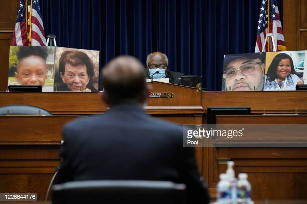 Committee Chairman and House Majority Whip Rep. James Clyburn listens to Secretary of Health and Human Services Alex Azar as he testifies before the...