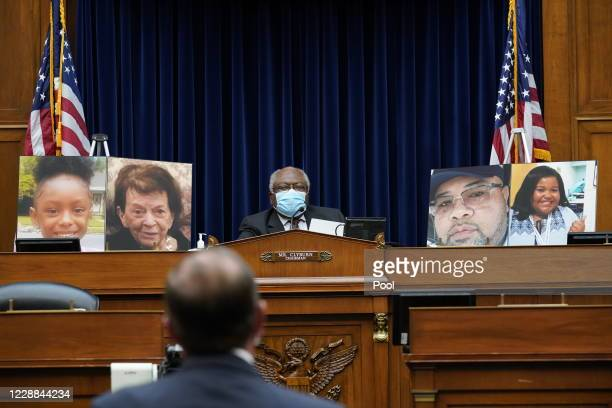 Committee Chairman and House Majority Whip Rep. James Clyburn listens as Secretary of Health and Human Services Alex Azar testifies before the House...
