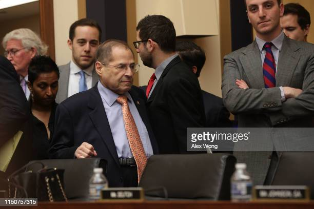 Committee chairman of US House Judiciary Committee Rep Jerry Nadler arrives at a hearing in which former White House Counsel Don McGahn was...