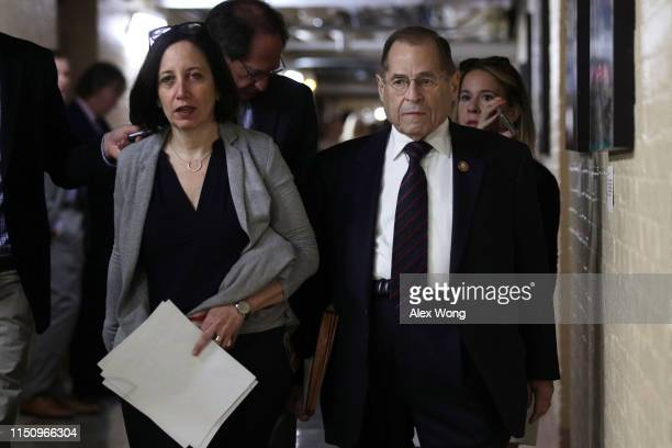 Committee Chairman of US House Judiciary Committee Rep Jerry Nadler leaves a House Democrats meeting at the Capitol May 22 2019 in Washington DC...