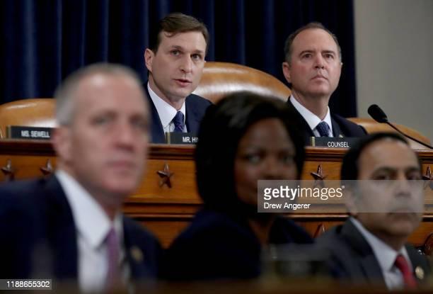 Committee Chairman Rep. Adam Schiff and majority counsel Daniel Goldman listen as Lt. Col. Alexander Vindman, National Security Council Director for...