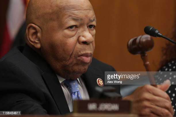 Committee Chairman Rep Elijah Cummings conducts a markup hearing before the House Oversight and Reform Committee June 26 2019 on Capitol Hill in...