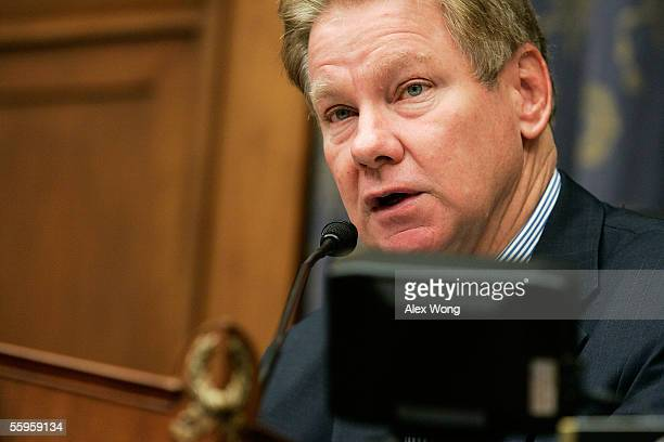 Committee Chairman Rep Tom Davis makes opening statements during a hearing before the House Select Bipartisan Committee to Investigate the...