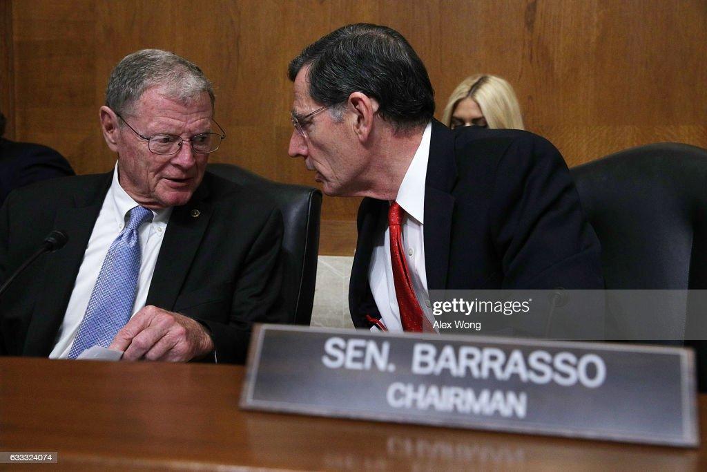Senate Environment Committee Meets To Vote On Scott Pruitt Nomination To EPA Administrator