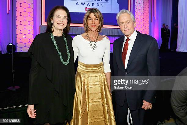 Committee member Sherry Lansing actress Wendie Malick and actor Michael Douglas attend AARP's Movie For GrownUps Awards at the Beverly Wilshire Four...