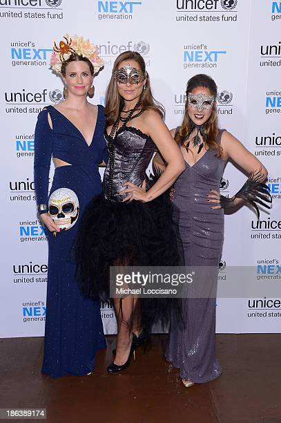 Committee members Emily Griset Nicole Neal and Elizabeth Yale attend the 4th Annual UNICEF Masquerade Ball at Angel Orensanz Foundation on October 30...
