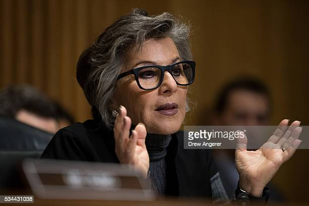 Committee ranking member Sen Barbara Boxer questions witnesses during a Senate Foreign Relations Committee hearing concerning cartels and the US...