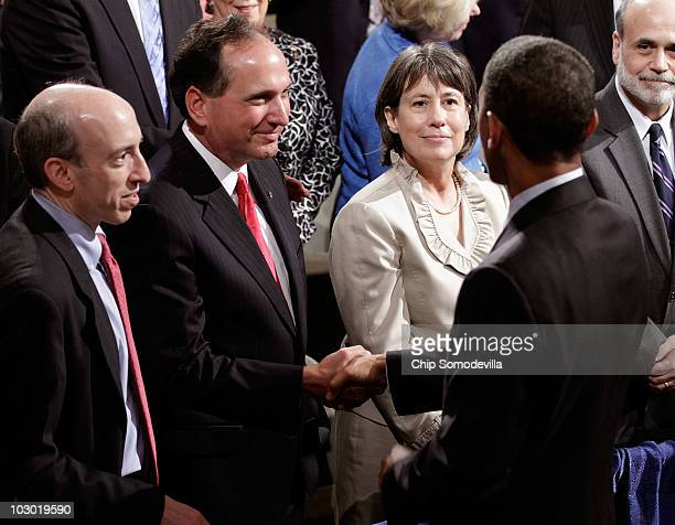 US Commodity Futures Trading Commission Chairman Gary Gensler Comptroller of the Currency John Dugan FDIC Chair Sheila Bair and Federal Reserve Bank...