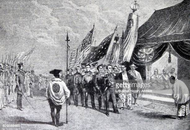 Commodore Matthew Perry United States Navy officer at the Convention of Kanagawa Japan in 1854