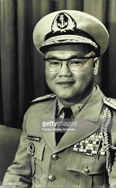 Commodore of the Vietnam Navy TranVanChon arriving at Sydney's International Airport for a Seven Day visit July 3 1970