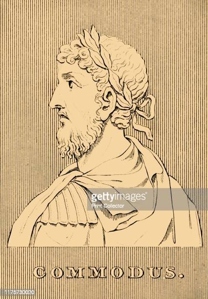 Commodus', , 1830. Commodus Roman emperor with his father Marcus Aurelius from 177 to his father's death in 180, and solely until 192. On tour in the...