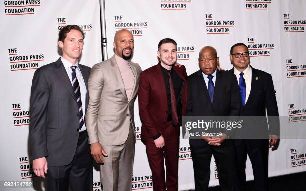 Common Alexander Soros John Lewis and Keith Ellison attend the 2017 Gordon Parks Foundation Awards Gala at Cipriani 42nd Street on June 6 2017 in New...
