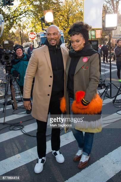 Common and Andra Day attend the 91st Annual Macy's Thanksgiving Day Parade on November 23 2017 in New York City
