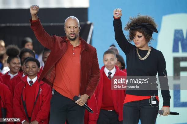 Common and Andra Day perform Stand Up For Something with members of the Cardinal Shehan School Choir during the March for Our Lives rally on March 24...