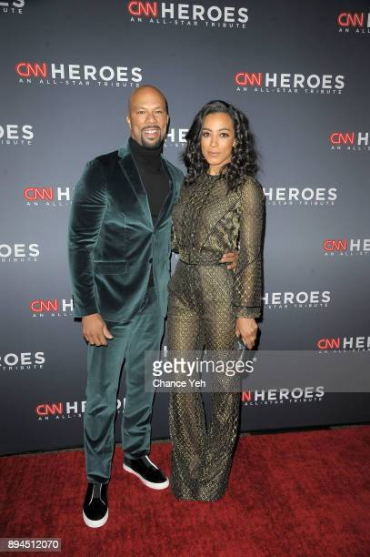 Common and Angela Rye attend 11th Annual CNN Heroes An AllStar Tribute at American Museum of Natural History on December 17 2017 in New York City