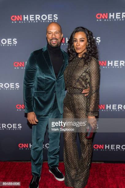 Common and Angela Rye attend the 11th Annual CNN Heroes An AllStar Tribute at American Museum of Natural History on December 17 2017 in New York City