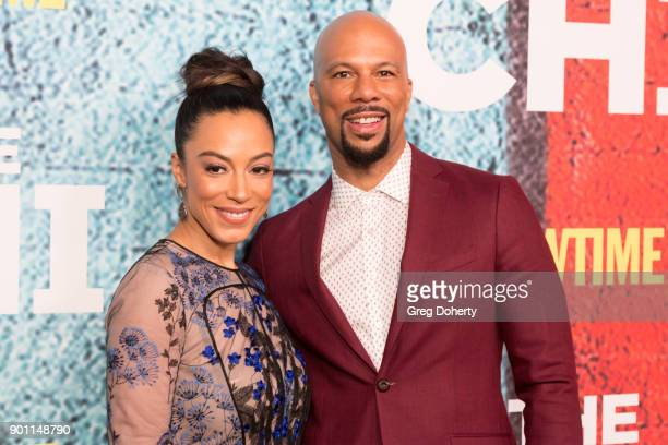 Common and Angela Rye attends the Premiere Of Showtime's 'The Chi' at Downtown Independent on January 3 2018 in Los Angeles California