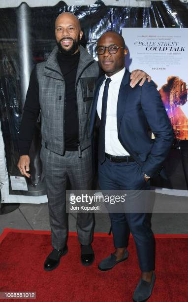 Common and Barry Jenkins arrive at the Los Angeles Special Screening Of If Beale Street Could Talk at ArcLight Hollywood on December 4 2018 in...