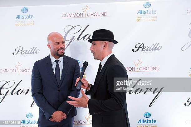 Common and Billy Dec attend the The Common Ground Foundation Cocktail Reception Fundraiser at Perillo Rolls Royce on March 21st 2015 in Chicago...
