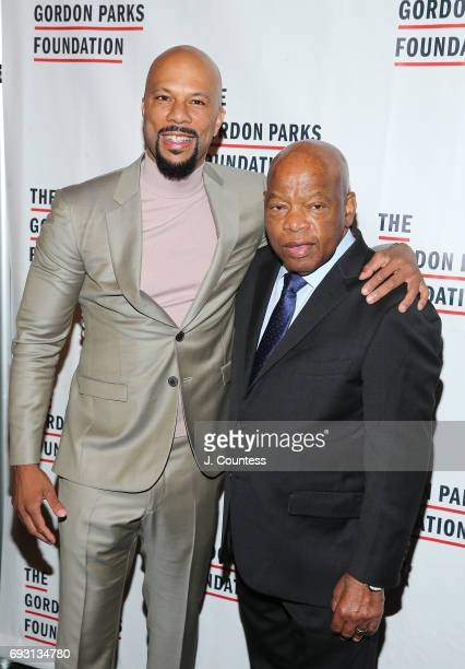 Common and Congressman John Lewis attend the 2017 Gordon Parks Foundation Awards Gala at Cipriani 42nd Street on June 6 2017 in New York City