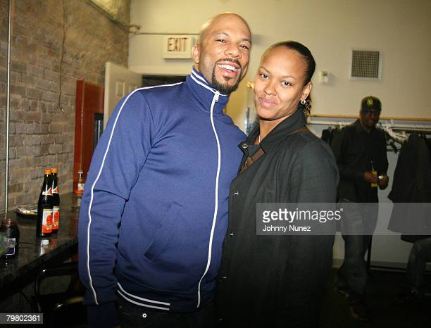 Common and Crystal Howard of DTP attend the 2008 NBA AllStar in New Orleans ESPN The Magazine's Chicken `N' Waffles event at Harrah's Hotel February...