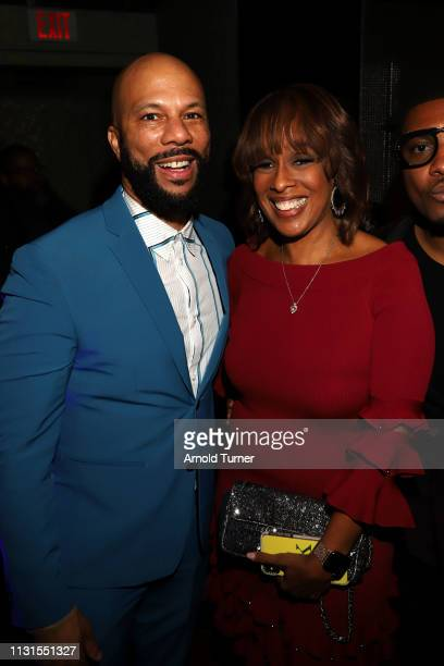 Common and Gayle King attend Common's 5th Annual Toast to the Arts at Ysabel on February 22 2019 in West Hollywood California