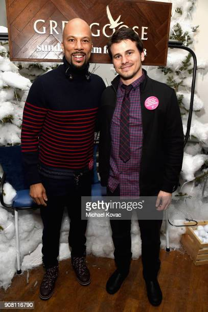 Common and Jason Ritter attend the The Tale After Party at Sundance Film Festival 2018 at The Grey Goose Blue Door on January 20 2018 in Park City...
