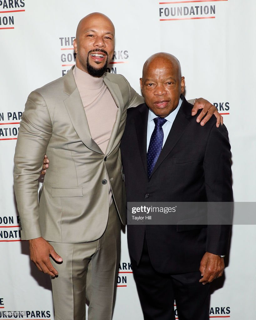 Common and John Lewis attend the 2016 Gordon Parks Foundation Annual Gala at Cipriani 42nd Street on June 6, 2017 in New York City.