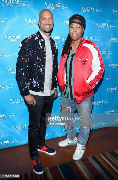 Common and Lena Waithe attend Vulture Festival Los Angeles at Hollywood Roosevelt Hotel on November 19 2017 in Hollywood California
