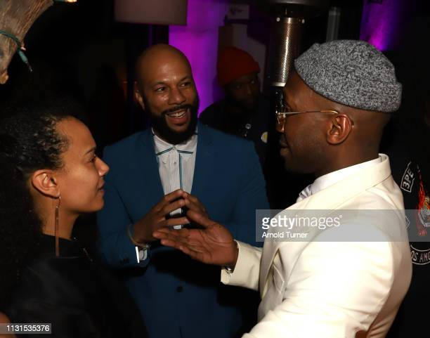 Common and Mahershala Ali attend Common's 5th Annual Toast to the Arts at Ysabel on February 22 2019 in West Hollywood California