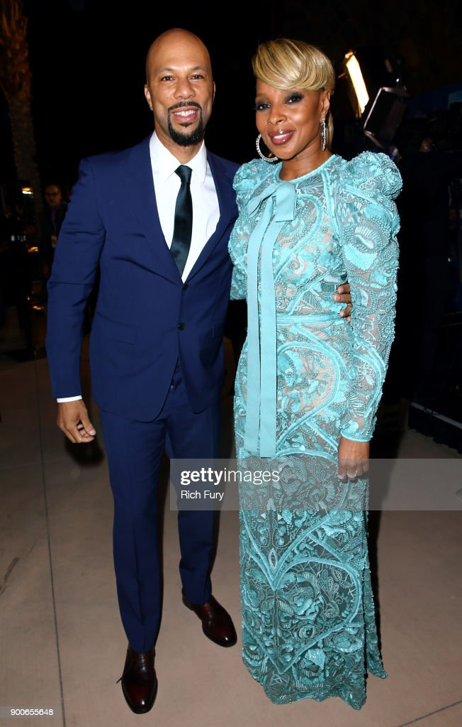 Common and Mary J. Blige attend the 29th Annual Palm Springs International Film Festival Awards Gala at Palm Springs Convention Center on January 2, 2018 in Palm Springs, California.