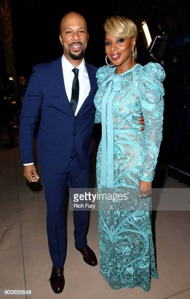 Common and Mary J Blige attend the 29th Annual Palm Springs International Film Festival Awards Gala at Palm Springs Convention Center on January 2...