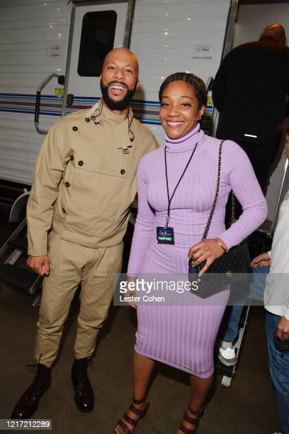 Common and Tiffany Haddish attend the 62nd Annual GRAMMY Awards Let's Go Crazy The GRAMMY Salute To Prince on January 28 2020 in Los Angeles...