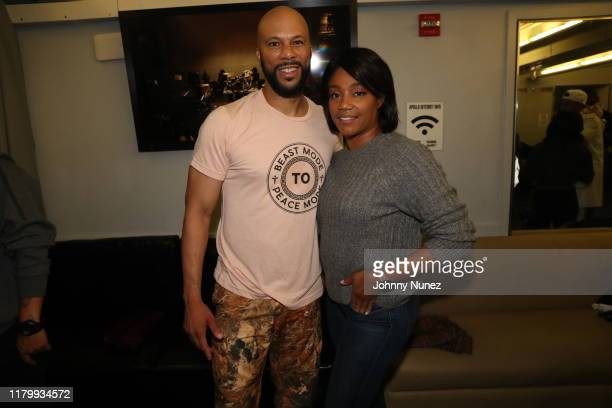 Common and Tiffany Hadish at The Apollo Theater on October 08 2019 in New York City