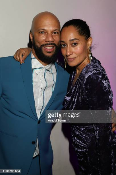 Common and Tracee Ellis Ross attend Common's 5th Annual Toast to the Arts at Ysabel on February 22 2019 in West Hollywood California