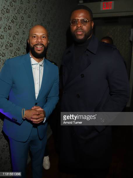 Common and Winston Duke attend Common's 5th Annual Toast to the Arts at Ysabel on February 22 2019 in West Hollywood California