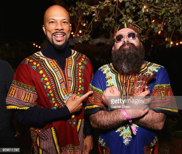 Common and Young Beardo attend The African Getdown Hosted by Common at the Private Residence of Jonas Tahlin CEO Absolut Elyx on March 8 2018 in Los...