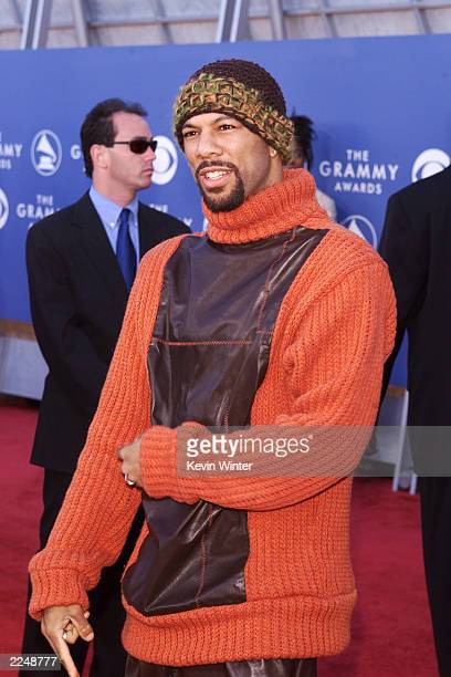 Common arrives at the 43rd Annual Grammy Awards at Staples Center in Los Angeles CA on February 21 2001 Photo credit Kevin Winter/Getty Images