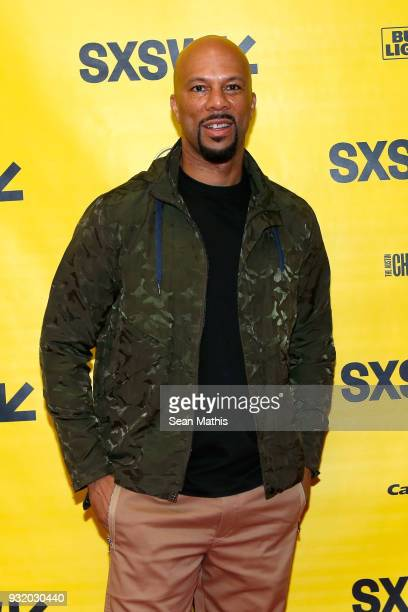 Common attends In Conversation Common Karriem Riggins of August Greene with Amazon Music's Alex Luke during SXSW at Austin Convention Center on March...