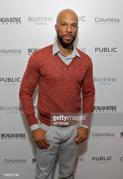 Common attends Michigan Avenue Magazine's celebration of cover star Common at The Pump Room at Public Chicago presented by Belvedere Vodka on October...