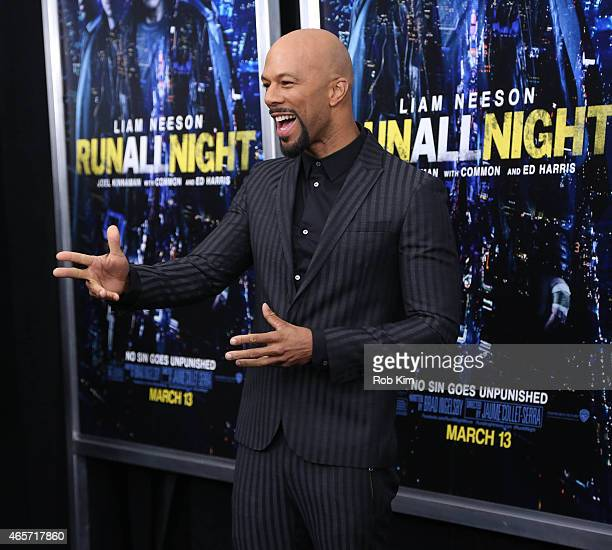 Common attends Run All Night New York premiere at AMC Lincoln Square Theater on March 9 2015 in New York City