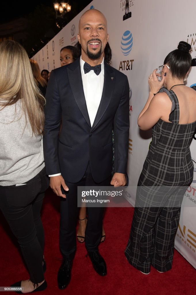 Common attends the 49th NAACP Image Awards at Pasadena Civic Auditorium on January 15, 2018 in Pasadena, California.