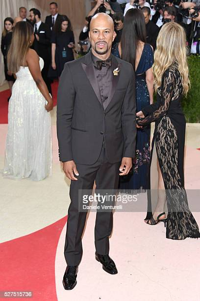"""Common attends the """"Manus x Machina: Fashion In An Age Of Technology"""" Costume Institute Gala at Metropolitan Museum of Art on May 2, 2016 in New York..."""