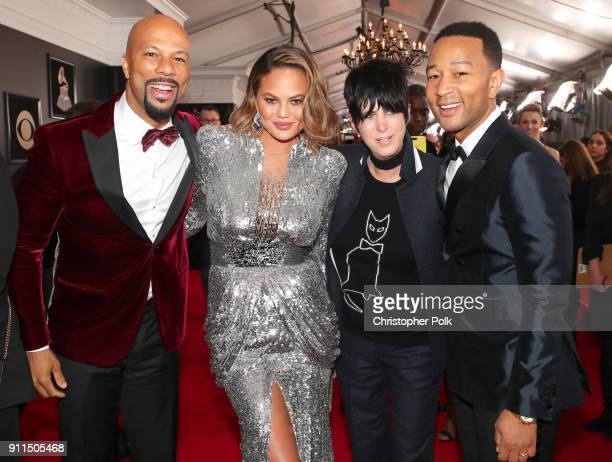 Common Chrissy Teigen Diane Warren and John Legend attend the 60th Annual GRAMMY Awards at Madison Square Garden on January 28 2018 in New York City