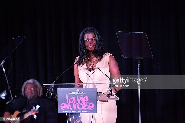 Common Ground Foundation 2016 honoree Kim Foxx attends the Common Ground Gala on April 23 2016 in Chicago Illinois