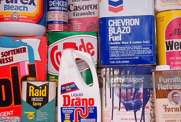 common household toxic pollutants - clorox bleach stock pictures, royalty-free photos & images