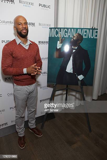 Common is celebrated as Michigan Avenue Magazine's cover star at The Pump Room at Public Chicago presented by Belvedere Vodka on October 13 2011 in...