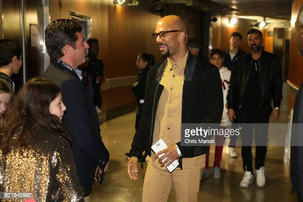 Common is seen during the NBA AllStar Game as a part of 2018 NBA AllStar Weekend at STAPLES Center on February 18 2018 in Los Angeles California NOTE...